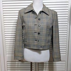 Issac Mizrahi Plaid Moto Jacket